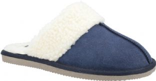 Hush Puppies Arianna Navy Suede Womens Slippers